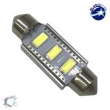 Σωληνωτός LED 39mm Can Bus με 3 SMD 5630 Samsung Chip Ψυχρό Λευκό