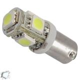 Λαμπτήρας LED Ba9s με 5 SMD 5050 Ψυχρό Λευκό