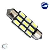 Σωληνωτός LED PCB 39mm με 9 SMD 5630 Samsung Chip Λευκό 6000k