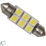 Σωληνωτός LED Απλός 42mm με 6 SMD 5050 Ψυχρό Λευκό
