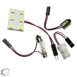 Πλακέτα LED PCB με 6 smd 5050 Ψυχρό Λευκό