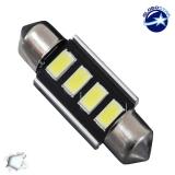 Σωληνωτός LED 36mm Can Bus με 4 SMD 5630 Ψυχρό Λευκό GloboStar 40155
