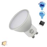 LED Σποτ GU10 Globostar 8 Watt 230v Θερμό Dimmable