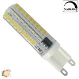 Λάμπα LED G9 Σιλικόνης 72 SMD 2835 5.5 Watt Θερμό Dimmable GloboStar 99379