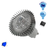 LED Spot GU10 3x1 Watt Μπλε Dimmable