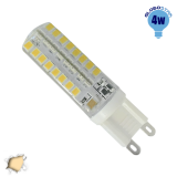 Λάμπα LED G9 Σιλικόνης 48 SMD 2835 4 Watt Θερμό GloboStar 99390