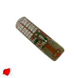 Λαμπτήρας T10 24 SMD Σιλικόνης Κόκκινο Strobe