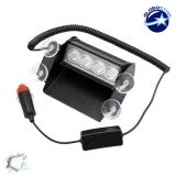 Φώτα Ασφαλείας 4 LED 12-24 Volt Λευκό για Παρμπρίζ
