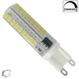 Λάμπα LED G9 Σιλικόνης 72 SMD 2835 5.5 Watt Ημέρας Dimmable GloboStar 99380