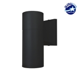 Φωτιστικό Τοίχου Wally Μαύρο Αλουμινίου IP65 Down Gu10