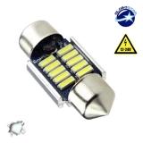 Σωληνωτός LED 31mm Can Bus με 10 SMD 4014 12-24 Volt Ψυχρό Λευκό GloboStar 40175