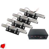 Φώτα Ασφαλείας LED 4 x 3 12-24 Volt DC Κόκκινο Εξωτερικά