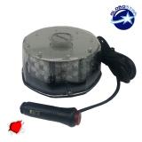 Φάρος Στρογγυλός Οροφής 40 Watt 10-30 Volt DC Κόκκινος με Μαγνήτη