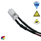 LED 5mm 45 Μοίρες με Καλώδιο 20cm 12 Volt RGB