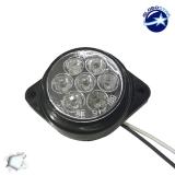 LED Πλευρικά Φώτα Όγκου Φορτηγών BULLET IP66 7 SMD 24 Volt Ψυχρό