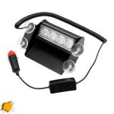 Φώτα Οδικης Βοηθειας 4 LED 12-24 Volt DC Πορτοκαλί για Παρμπρίζ
