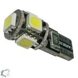 Λαμπτήρας LED T10 Can Bus με 5 SMD 5050 Ψυχρό Λευκό