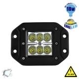 Χωνευτό Προβολάκι LED 18 Watt 10-30 Volt Ψυχρό Λευκό