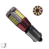 Λαμπτήρας LED BA9S 57 SMD 3014 Can Bus 12 Volt Ψυχρό Λευκό GloboStar 55784