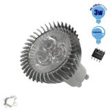 LED Spot GU10 3x1 Watt Λευκό Ημέρας Dimmable