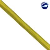 Στρογγυλό Υφασμάτινο Καλώδιο 2 x 0.75mm² Κίτρινο GloboStar 80006