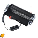 Φώτα Οδικής Βοήθειας 8 LED 12-24 Volt Πορτοκαλί για Παρμπρίζ