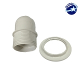 ΣΕΤ Ντουί E27 με Ροδέλα Πλαστικό Λευκό GloboStar 90018