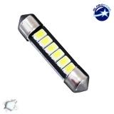 Σωληνωτός LED 42mm με 6 SMD 5630 Samsung Chip Λευκό 6000k