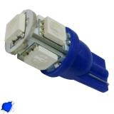 Λαμπτήρας LED T10 με 5 SMD 5050 Μπλε