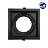 Χωνευτή Τετράγωνη Μονή Βάση για Spot AR111 Μαύρη Κινούμενη σε 2 άξονες GloboStar 90087