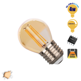 Γλομπάκι LED Edison Filament Retro Μελί Globostar E27 4 Watt g45 Θερμό Dimmable