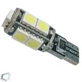 Λαμπτήρας LED T10 Can Bus με 9 SMD 5050 Ψυχρό Λευκό