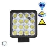 Προβολέας LED Εργασίας Square 48 Watt 10-30v Ψυχρό Λευκό GloboStar 50000