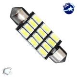 Σωληνωτός LED PCB 42mm με 12 SMD 5630 Samsung Chip Λευκό 6000k