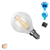 Γλομπάκι LED Edison Filament Retro Globostar E14 4 Watt g45 Θερμό Dimmable