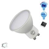 LED Σποτ GU10 Globostar 8 Watt 230v Ψυχρό Dimmable