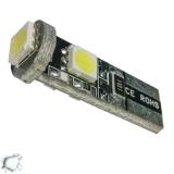 Λαμπτήρας LED T10 Can Bus με 3 SMD 5050 Ψυχρό Λευκό
