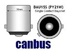 Λάμπες LED PY21W BAU15s Can Bus