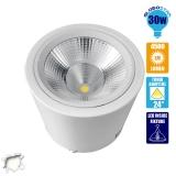 LED Φωτιστικό Spot οροφής Down Light 30 Watt Λευκό Ημέρας GloboStar 93004