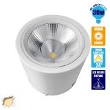 LED Φωτιστικό Spot οροφής Down Light 30 Watt Θερμό Λευκό GloboStar 93003