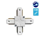 Connector Συνδεσμολογίας Cross (+) για Λευκή Ράγα Οροφής GloboStar 93028