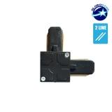 Connector Συνδεσμολογίας Ελ (L) για Μαύρη Ράγα Οροφής GloboStar 93027