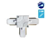 Connector Συνδεσμολογίας Ταφ (Τ) για Λευκή Ράγα Οροφής GloboStar 93024