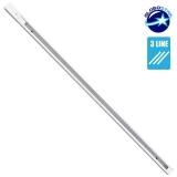 Διφασική Ράγα 3 Καλωδίων 1 Μέτρο Λευκή για Φωτιστικά Ράγας GloboStar 93020