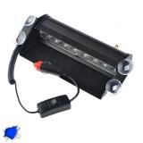 Φώτα Αστυνομίας 8 LED 12-24 Volt Μπλε για Παρμπρίζ