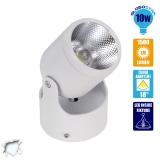 LED Φωτιστικό Spot Οροφής με Σπαστή Βάση White Body 10 Watt Ψυχρό Λευκό GloboStar 93008