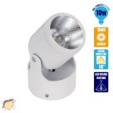 LED Φωτιστικό Spot Οροφής με Σπαστή Βάση White Body 10 Watt Θερμό Λευκό