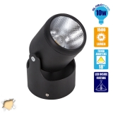 LED Φωτιστικό Spot Οροφής με Σπαστή Βάση Black Body 10 Watt Θερμό Λευκό GloboStar 93009