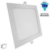 Πάνελ PL LED Οροφής Χωνευτό Τετράγωνο 20 Watt 230v Ημέρας GloboStar 01885