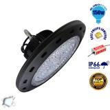 Κρεμαστό Φωτιστικό High Bay Οροφής UFO 150 Watt Ψυχρό Λευκό